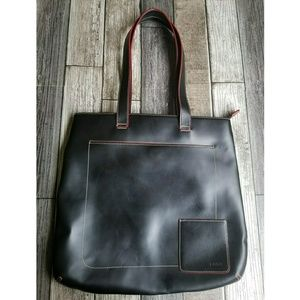 LODIS black leather tote